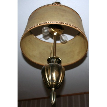 lampa mosiężna wisząca