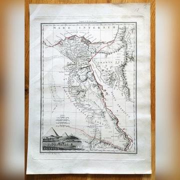 Afryka Egipt piramidy mapa  1812 Malte Brun