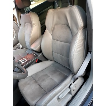 Fotele Audi A6 C6 4F skóra alcantara szara