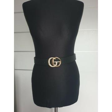 Czarny pasek CG do spodni