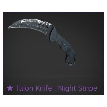 CS:GO Nóż Talon Knife | Szpon | Night Stripe FT