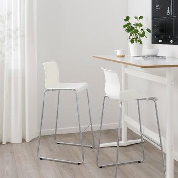 Krzesło Hoker Białe IKEA Glenn Wysokość 77 cm