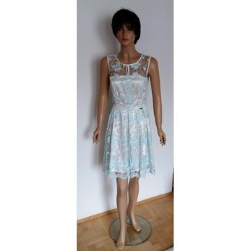 Koronkowa sukienka S/M ślub poprawiny komunia