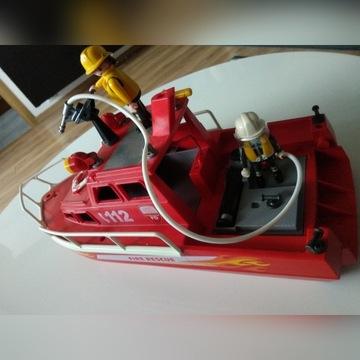 Playmobil łódź strażacka z armatką wodną