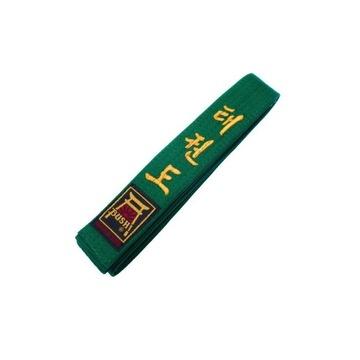 BUSHI PAS TAEKWONDO ITF WTF Zielony 180cm