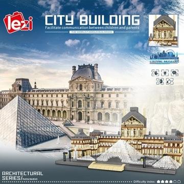 Architektura miasta paryż Musée du Louvre LEGO