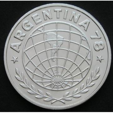 Argentyna 3000 pesos 1978 - MŚ Mundial - srebro