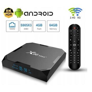 Odtwarzacz multimedialny X96 Smart TV Box Max 64 G