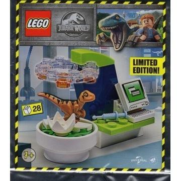 LEGO JURASSIC RAPTOR W LABORATORIUM