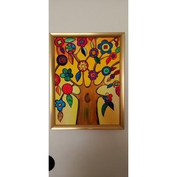 Obraz akrylowy 30x40 B.K.sygnowany Pt Drzewo myśli