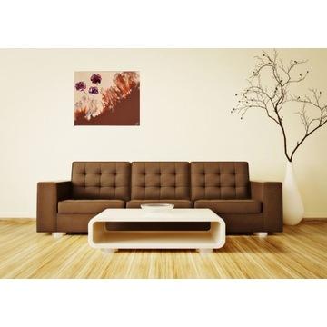 50x60 Obraz abstrakcyjny ręcznie malowany