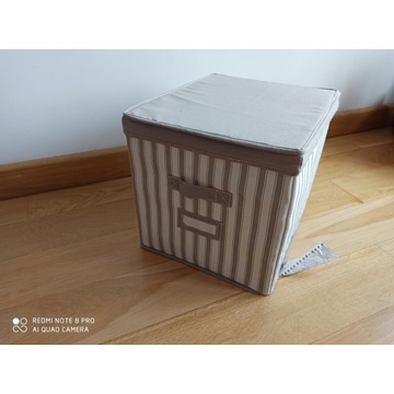2 x IKEA SVIRA Pudełko z pokrywką szare