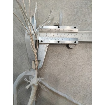 Kabel miedziany posrebrzany, przewód srebrzony 4mm