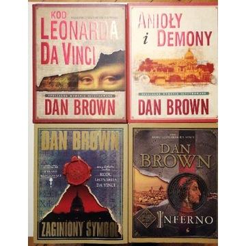 Zestaw 4 książek. Dan Brown Ilustrowane plus bonus