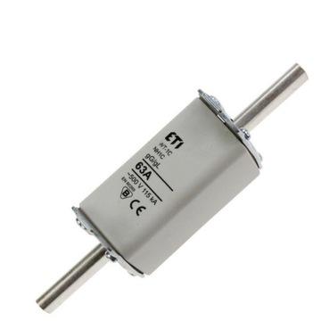 wkładka topikowa NH1C gG/gL 63A/500V - kpl 3 szt