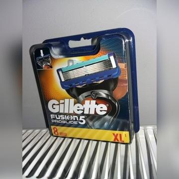 GILLETTE FUSION PROGLIDE 8 Sztuki Nożyków Oryginał