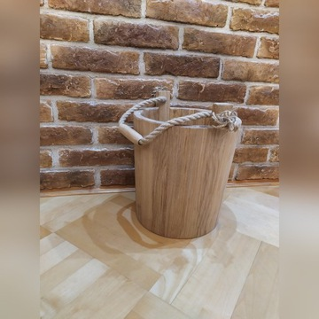 Wiadro drewniane,Doniczka,Kwietnik