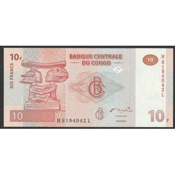 KONGO 10 FRANKÓW 2003 - STAN BANKOWY UNC