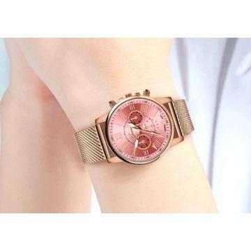 Złoty zegarek damski Geneva