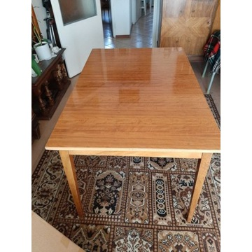 Rozkładany stół PRL vintage