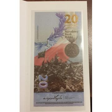 Banknot - 20 zł 2020 r. - Bitwa Warszawska 1920