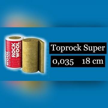 Wełna mineralna Toprock Super 0,035 18cm Rockwool