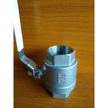 Zawór kulowy CF8M 2''; 2-częściowy Nierdzewny NOWY