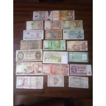 Zestaw banknotow ze swiata