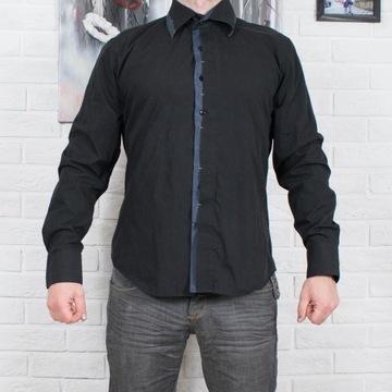 Czarna koszula SLIM FIT Yves Enzo rozm. XL