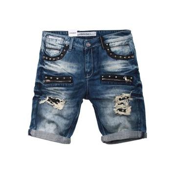 Spodenki krótkie jeansowe CIPO BAXX CK181 BLUE