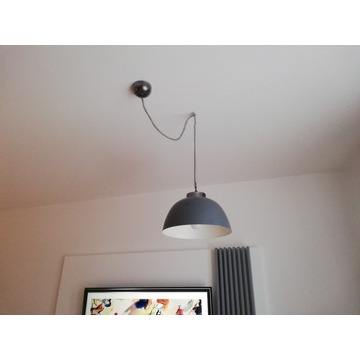 Szare lampy wiszące z Miloo Home