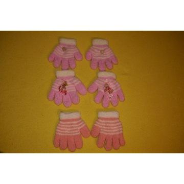 Rękawiczki polarowe Yo różowe 3 szt 92 98 104