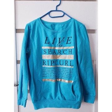 Niebieska bluza z napisami