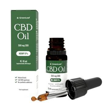 Green Leaf CBD Oil 5% - Czysty Olej Konopny