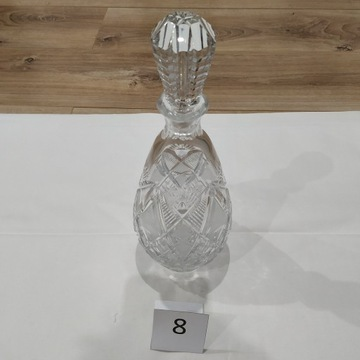 Karafka kryształowa z korkiem