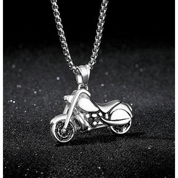 Wisiorek z motocyklem