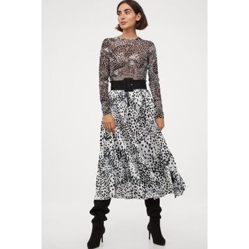 Spódnica H&M plisowana z lejącej tkaniny z połyski