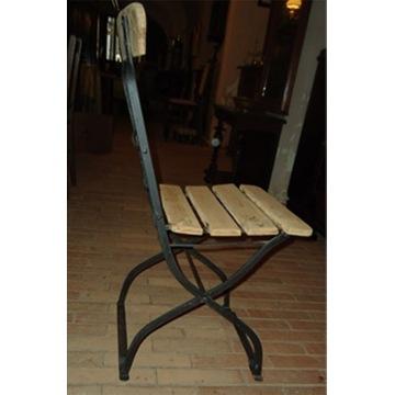 krzesełko składane ludowe z XIX/XX w.