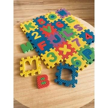 Puzzle piankowe Literki i Cyferki