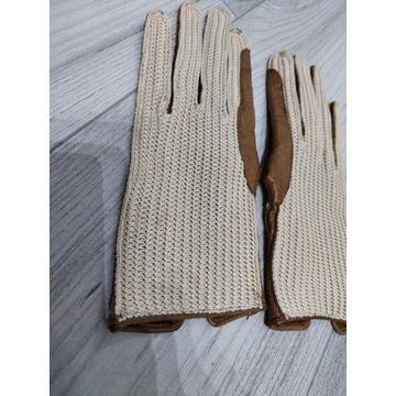 Rękawiczki skórzane do jazdy konno rozm S
