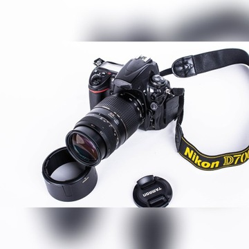 nikon d700 + Tamron 70- 300mm macro