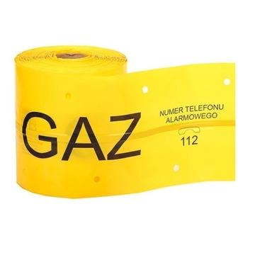 Taśma żółta lokalizacyjna z wkładką stalową GAZ
