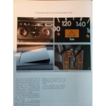 Prospekt mercedes w 190 w201 katalog folder