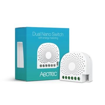 Aeotec Z-Wave NANO DUAL In Wall Smart Switch