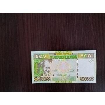 Gwinea 500 Francs UNC