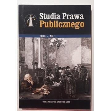 Studia prawa publicznego 1/2013