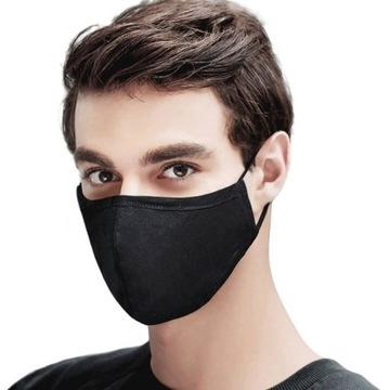 Maska bawełniana 3 warstwy ochrona