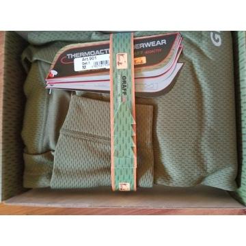 Koszulka termoakt. długi rękaw, r.M,zielona Graff