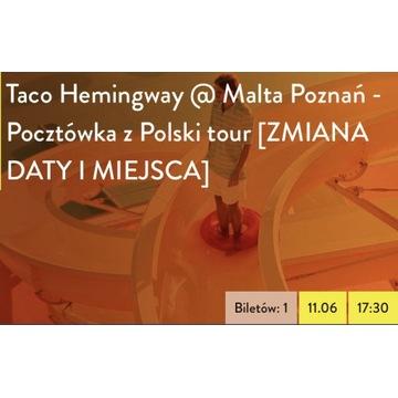 Bilet Taco Hemingway Poznań Malta 11.06.2022