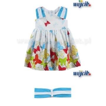 Sukienka nowa 98 Wójcik opaska Lekka jak motylek.